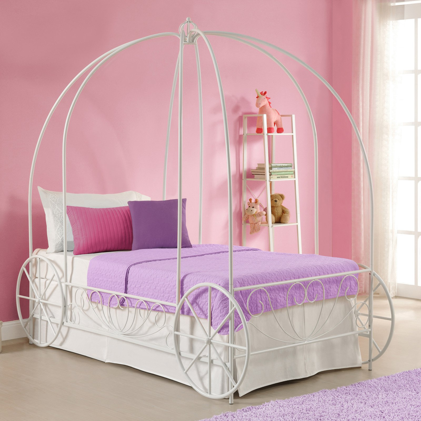 Details about Twin Size Princess Carriage Bed in Lavender Purple Girls Canopy Bed So Cute!! & Twin Size Princess Carriage Bed in Lavender Purple Girls Canopy Bed ...