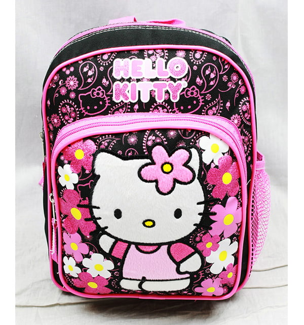 Mini Backpack Hello Kitty Flowers Black New School Bag Book Girls 82595 by FAB Starpoint