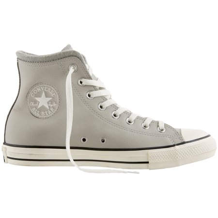 Men's Converse Chuck Taylor All Star Leather Wool Hi-Top Casual Shoes (Grey/White)