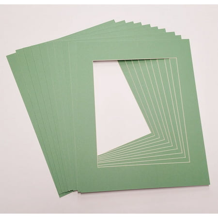 16x20 White Picture Mats with White Core for 8x10 Pictures - Fits 16x20 Frame