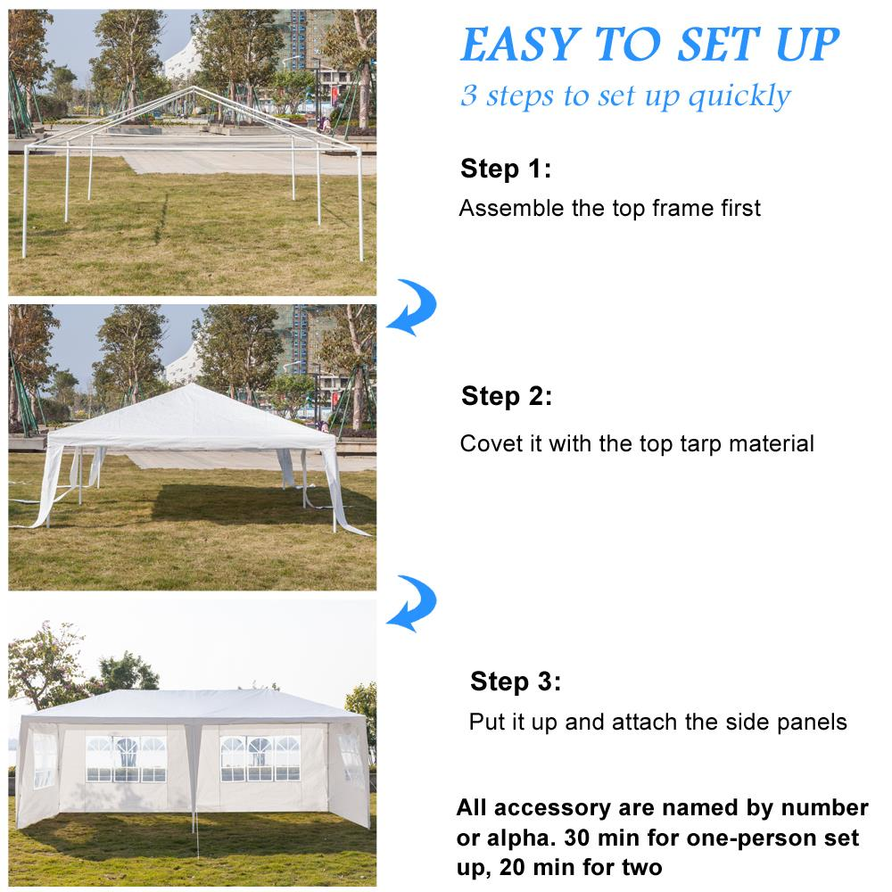 Ktaxon 10'x 20' Third Generation Heavy Duty Gazebo Canopy Outdoor Party  Wedding Tent
