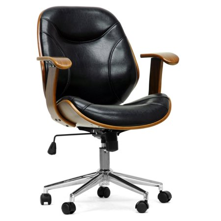 Baxton Studio Rathburn Modern Office Chair - Walnut /
