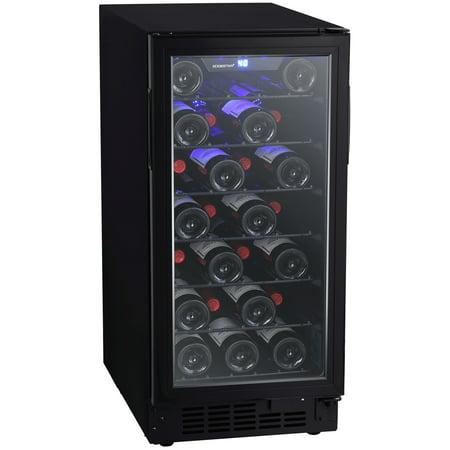 EdgeStar BWR301BL Black 15 Wide 30 Bottle Built-In Single Zone Wine Cooler