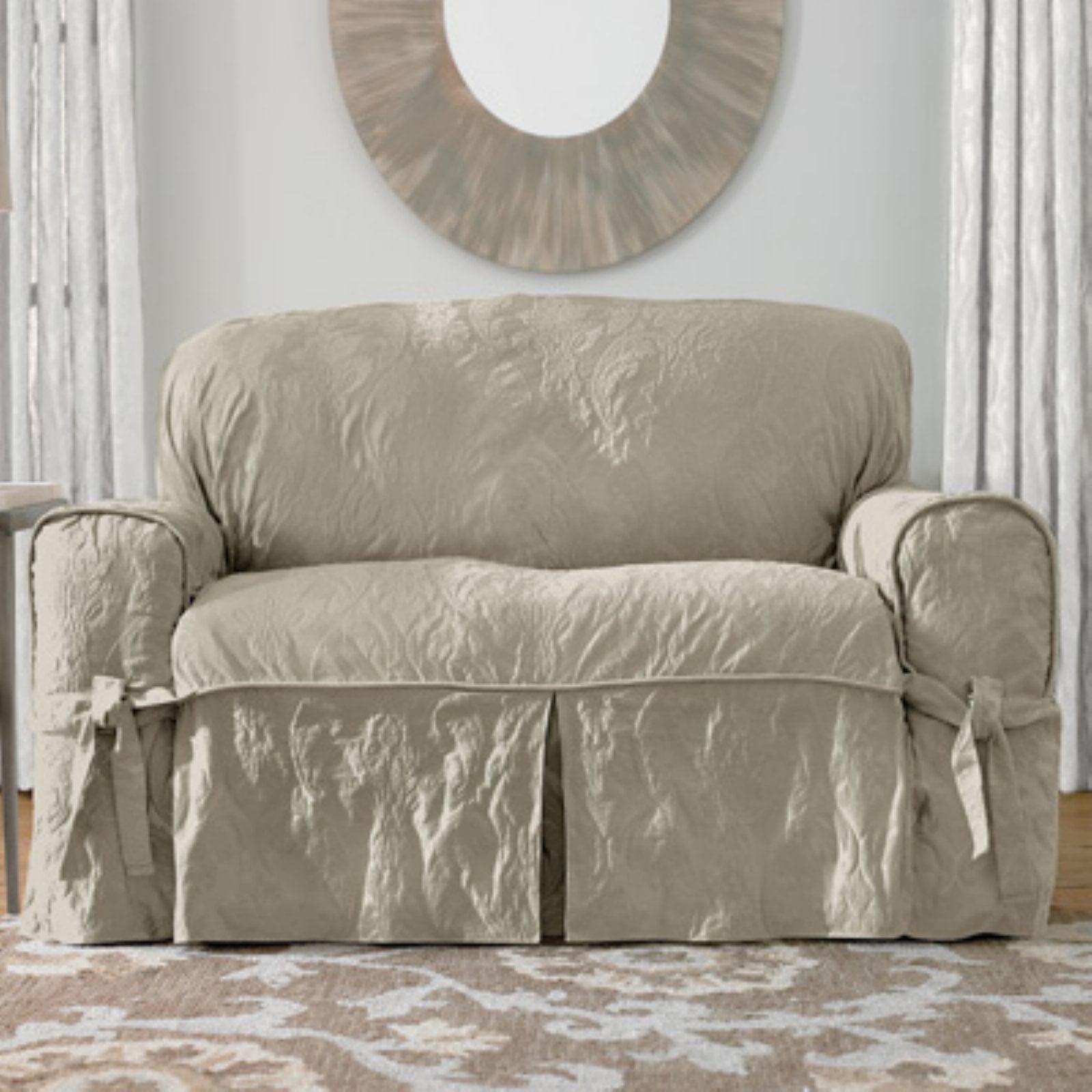 Sure Fit Matelasse Damask Sofa Cover Walmart