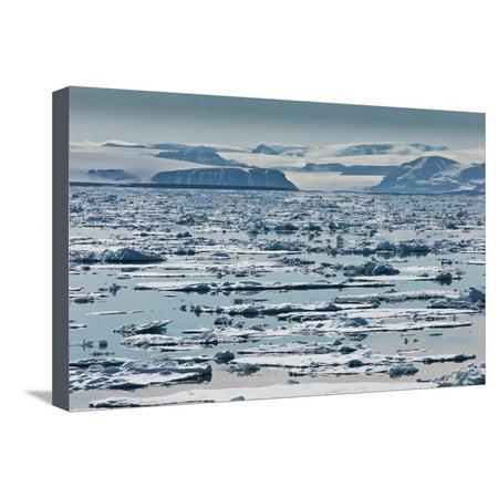 Icebergs, Hinlopen Strait, Spitsbergen Island, Svalbard, Norway Stretched Canvas Print Wall Art