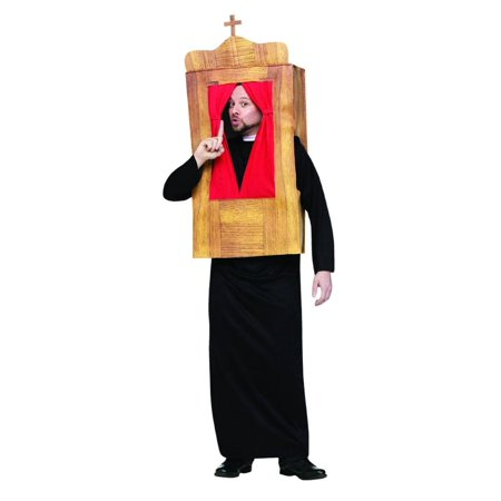 The Confessional Priest Costume Adult One Size Fits - Most Original Costume Ideas