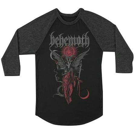 Behemoth Men's Gabriel Raglan Baseball T-Shirt Black Grey