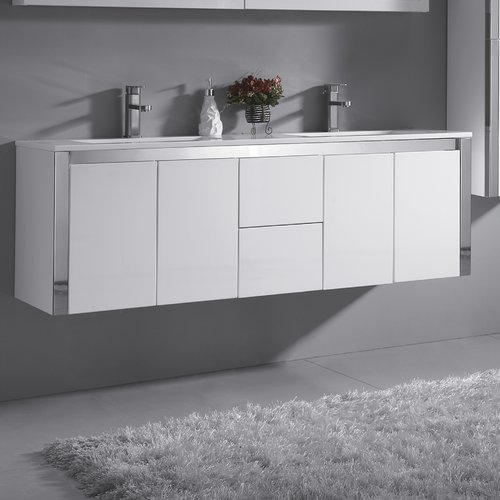 Ove Decors Lelio 59'' Double Bathroom Vanity Set