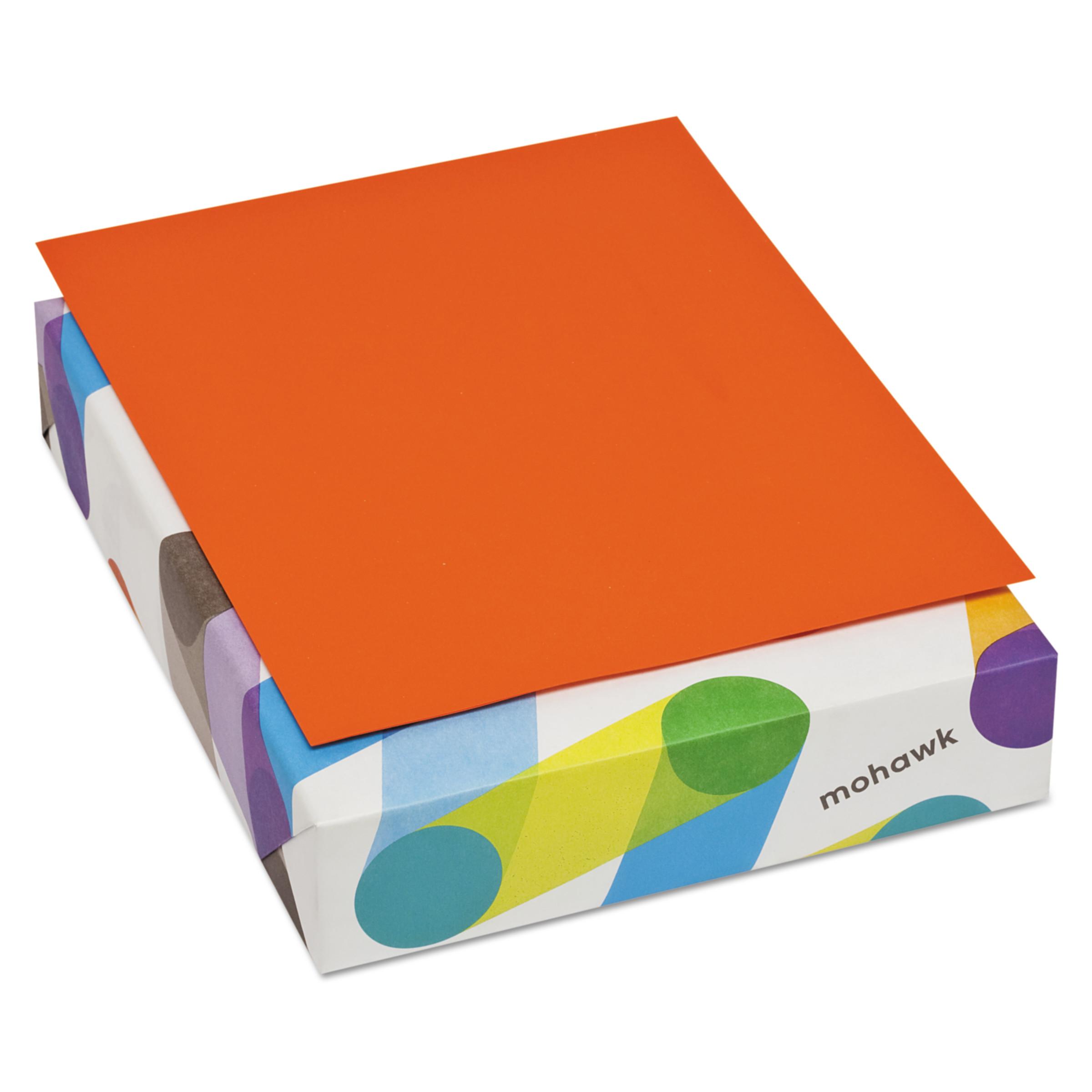 Mohawk BriteHue Multipurpose Colored Paper, 20lb, 8 1/2 x 11, Orange, 500 Sheets -MOW472608