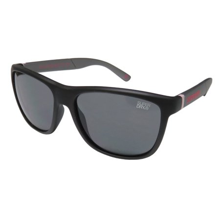 New Superdry Sds Gymsta Mens Designer Full-Rim 100% UVA & UVB Matte Black / Gray Light Weight High Quality Hip Shades Sunnies Frame Gray Lenses 56-17-138 (Cheap Superdry Sunglasses)
