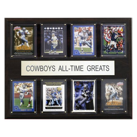 C&I Collectables NFL 12x15 Dallas Cowboys All-Time Greats Plaque Dallas Cowboys Cabinet Style Wood