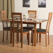 Aeon Furniture Flex 5 Piece Dining Table Set with Denver Chairs