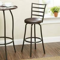 Mainstays Ladder Back Barstool, Black Finish, Multiple Sizes and Seat Colors