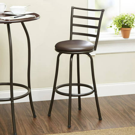 Mainstays Metal Swivel Counter Stool 24 Set Of 2 Black