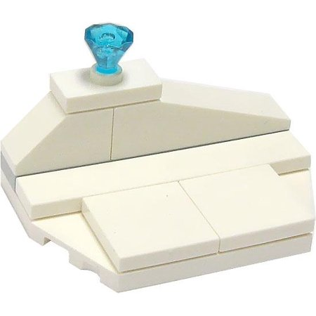 LEGO Castle Terrain Sets Ice Shelf with Diamond [Loose]