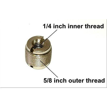SP-TMA-1 - Sound Professionals  - 1/4 inch female to 5/8 inch male adapter to attach microphone mounts onto a camera or lighting tripod with 1/4 inch threaded stud. Made in
