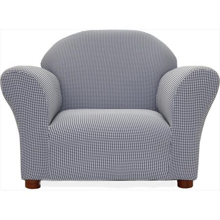 Fantasy Furniture CR16 Fantasy Furniture Roundy Chair Navy Ghingham