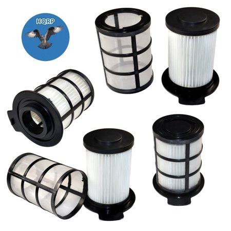 Vax Floor - HQRP Central HEPA Filter (Pack of 4) for Vax Performance 2200T V-091TB, Floor Command V-091FC / Vax Force 10 Super Power V-091SP Vacuum Cleaner + HQRP Coaster