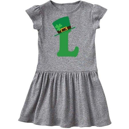 Irish St Patricks Day Letter L Monogram Toddler Dress - St Patricks Day Dresses