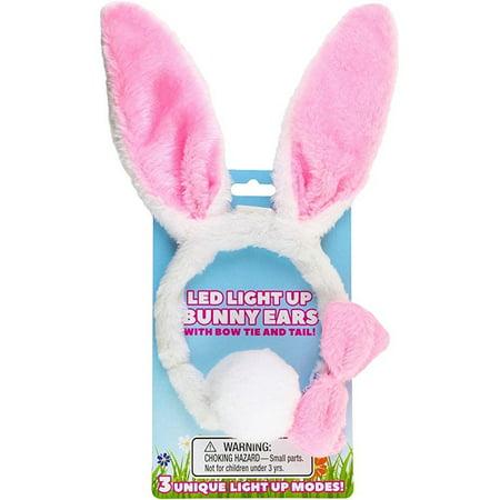 Kangaroo Light Up Toys- LED Plush Easter Bunny Ears and Tail, Plus - Bunny Ears And Tail