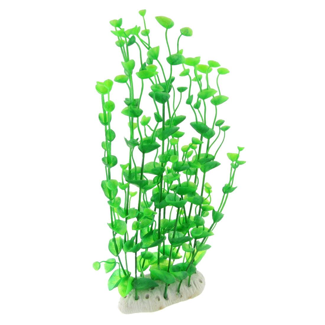Unique Bargains Unique Bargains Green 12 2 / 5 Emulational Plastic Aquatic Plant Ornament for Aquarium Tank