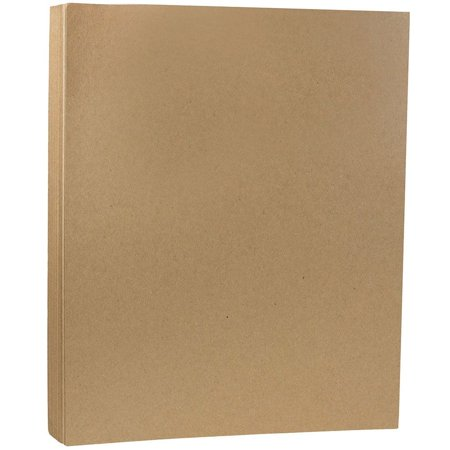 JAM Paper Letter Cardstock, 8.5 x 11, 130lb Brown Kraft Paper Bag, 25 Sheets/pack - Kraft Cardstock