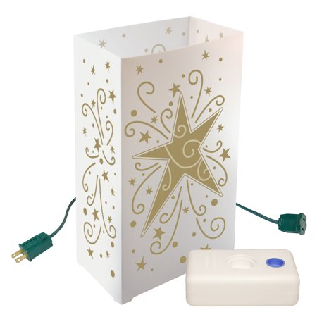LumaBase Electric Luminaria Kit with LumaBases- 10 Count Star ()
