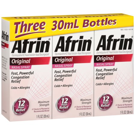 Afrin® Original Nasal Decongestant Nasal Spray 3-30mL