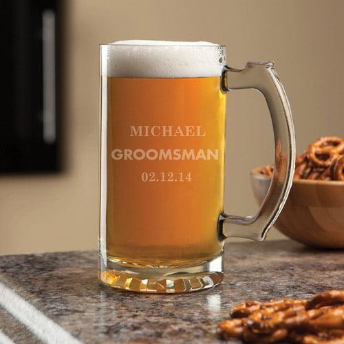 Personalized Groomsman 16 oz Beer Mug
