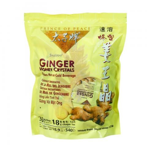 Prince Of Peace Ginger Honey Crystals, 30 Ct