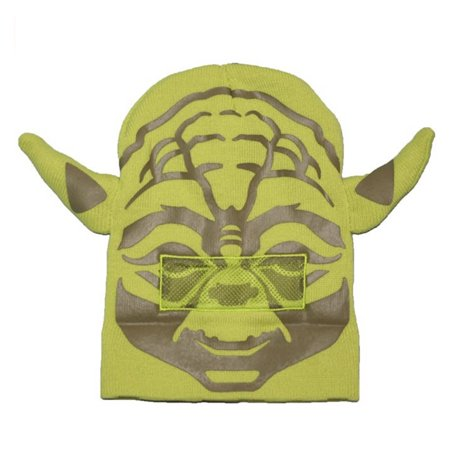 Yoda Roll Down Mask Winter Beanie Hat - Yoda Ears Hat