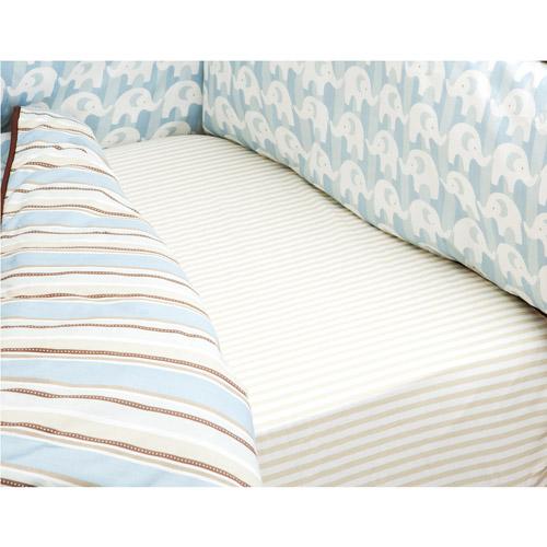 Boppy - Crib Sheet, Pinstripe Tan