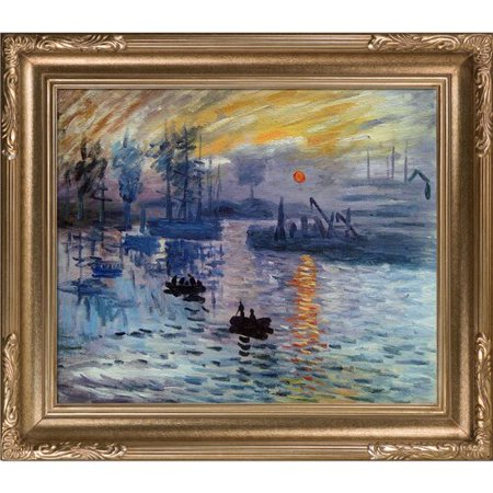 Tori Home Impression, Sunrise' by Claude Monet Framed (Sunrise Oil Painting)