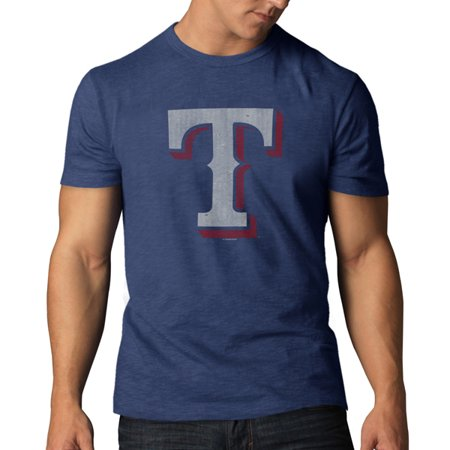 Texas Rangers 47 Brand Bleacher Blue Soft Cotton Scrum T-Shirt by