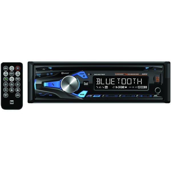 Dual Dc207bt Single-din In-dash Cd Am/fm Receiver With Bluetooth