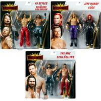 "WWE Battle Packs ""WrestleMania 35"" - Complete Set of 3 Toy Wrestling Action Figures"