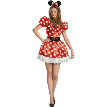 Womens  Red Disney Mickey Mouse Club Minnie Mouse Adult Costume