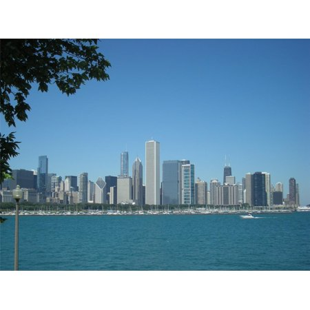 Laminated Poster Chicago Skyline City Cook Second Great Windy Chi Poster Print 24 x 36 - Windy City Coupon