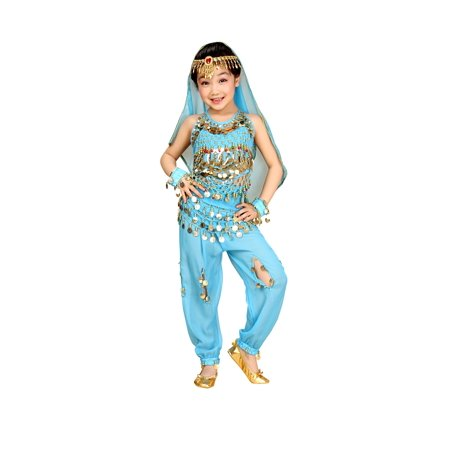 So Sydney Kids, Toddler, Girls' Deluxe Belly Dancer Gypsy Halloween Costume or Recital - Gypsy Girl Costume