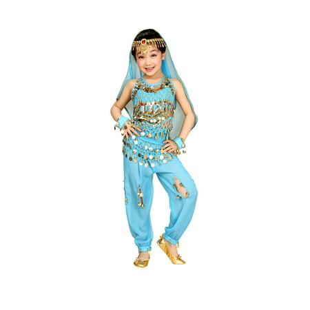 So Sydney Kids, Toddler, Girls' Deluxe Belly Dancer Gypsy Halloween Costume or Recital Outfit (Can Can Dancer Costumes)