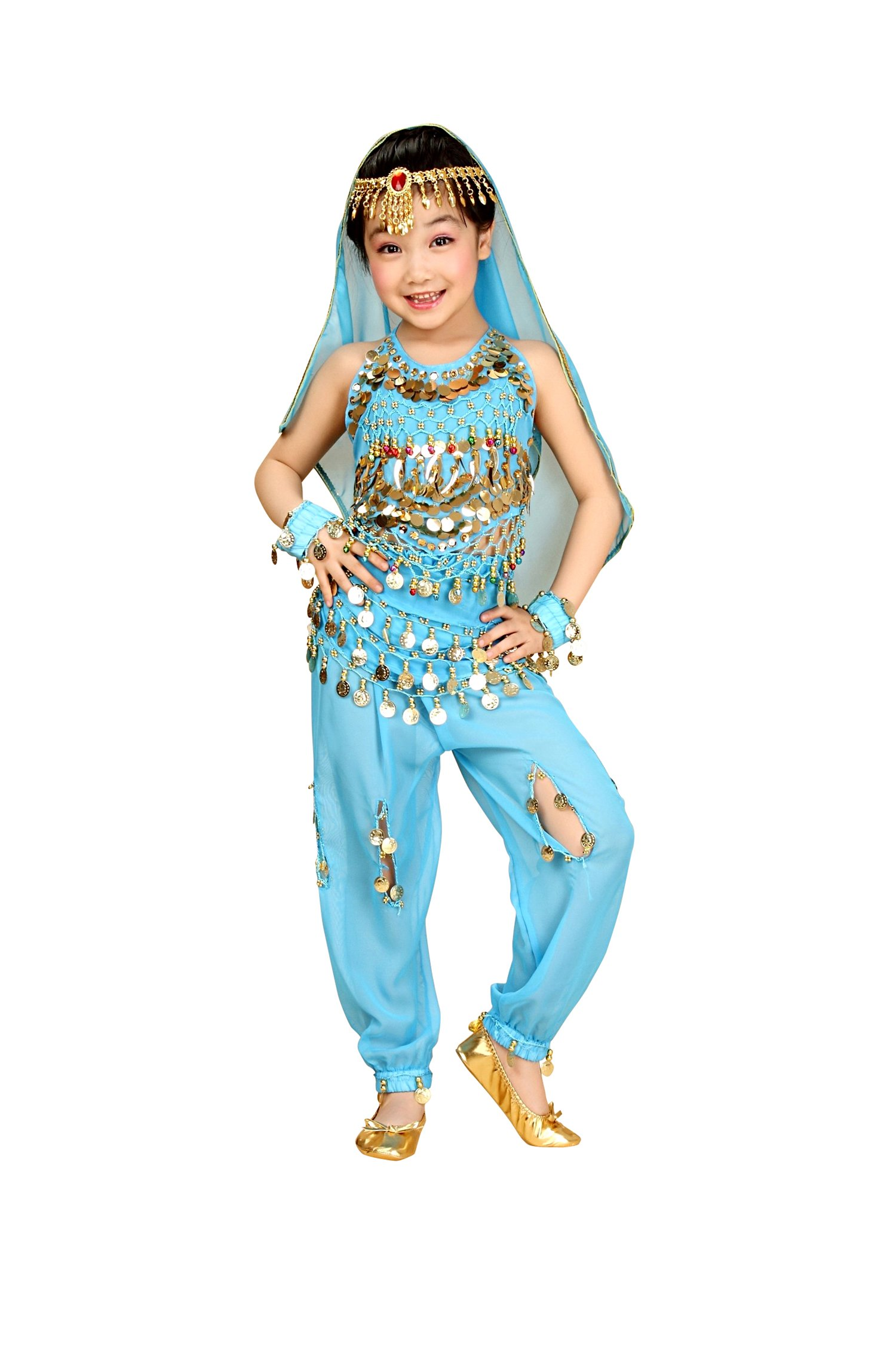 so sydney kids toddler girlsu0027 deluxe belly dancer gypsy halloween costume or recital