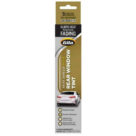 - Gila® Heat Shield Plus 5% VLT Rear Window Automotive Window Tint DIY Extra Heat Control Glare Control (6in x 26ft)
