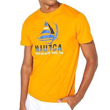 Nautica Big & Tall Big & Tall Graphic Tee Keep Calm Orange 4XLT