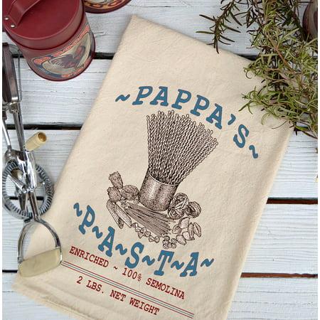 Farmhouse Natural Flour Sack Pappa's Pasta Country Kitchen Towel - Halloween Pasta Dishes