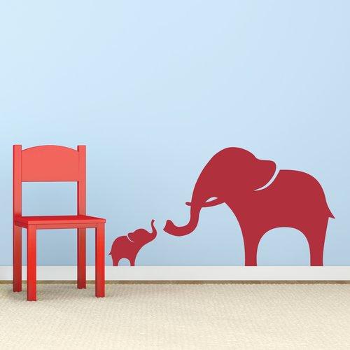 Wallums Wall Decor Mama And Baby Elephant Wall Decal