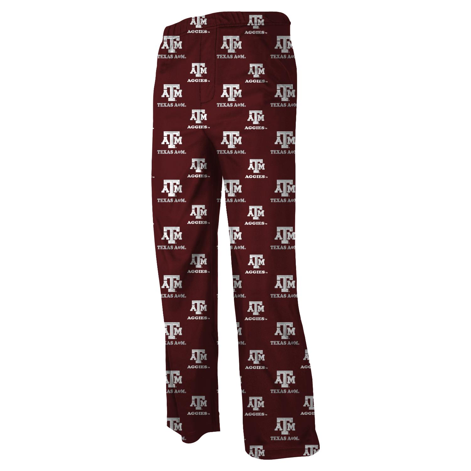 Texas A&M Aggies Youth NCAA Printed Logo Pajama Pants