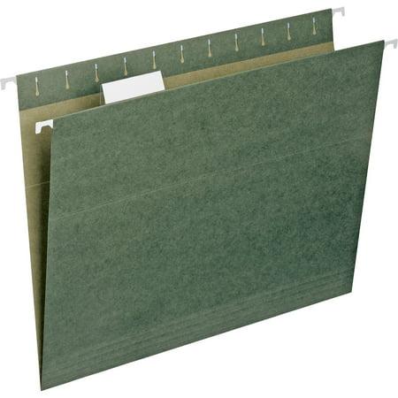 - Smead, 1/5 Cut Tab Hanging File Folders, 25 / Box, Standard Green