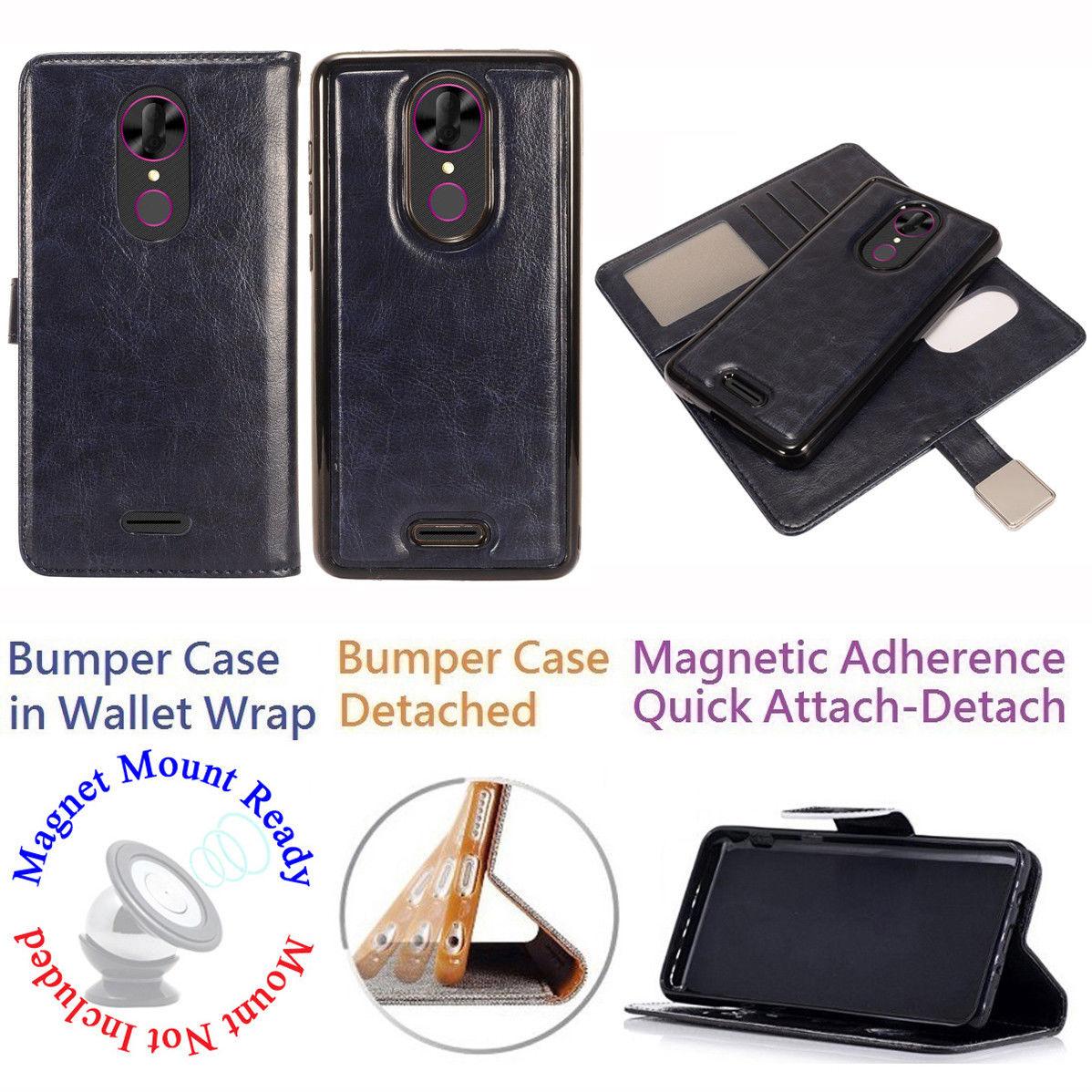 """for 6"""" T-Mobile REVvL + PLUS revvlplus Case Phone Case Mag Mount Ready Tortilla Wallet Wrap Detachable Bumper Stand Purse Screen Flip Cover Pink"""