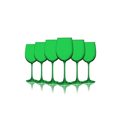 Emerald Green Colored Wine Gles 19 Oz Set Of 6 Additional Vibrant Colors Available