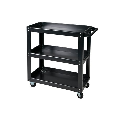 Buy-Hive Tool Service Cart 3-Tray Utility Tool Organizer Rolling Trolley Workshop Garage